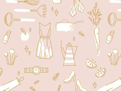 Pattern beauty lifestyle food drawing hand drawn illustration surface pattern pattern