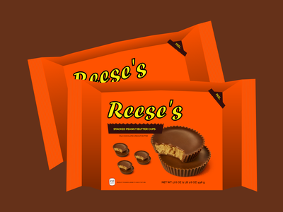 Reese's Packaging Redesign branding package design chocolate productdesign product design