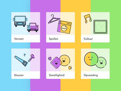 Geweldige Wijk Custom Icons icons platform android ios app