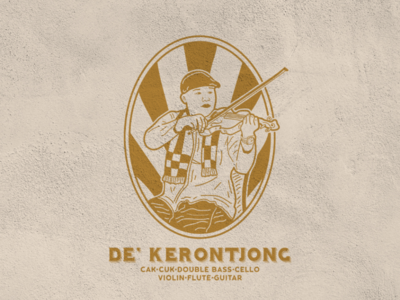 Keroncong logo vintage illustration