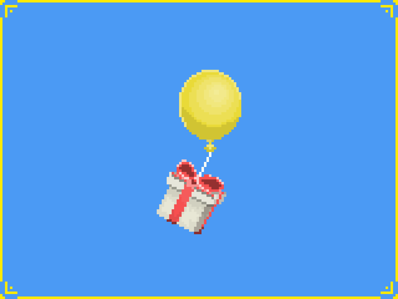 Pixel Art Balloon (Animal Crossing) animal crossing new horizons nintendo ac animal crossing gaming pixel art pixelart