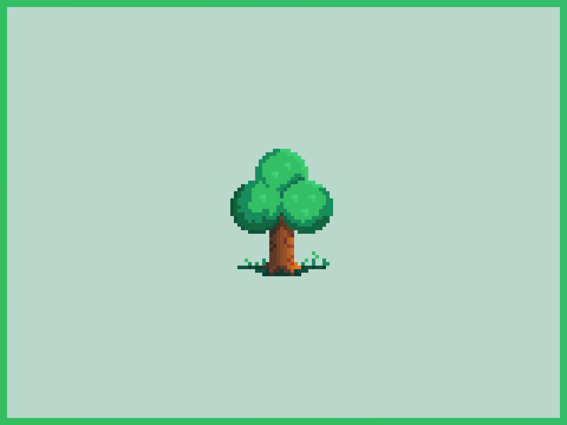 Pixel Art Tree (Animal Crossing) acnh new horizons nintendo game blazeit420 green grass tree animal crossing gaming pixel art pixelart