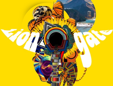Lion gate 08082020. gate yellow vector psychedelicart psychedelic poster loveistheanswer icarosdie guatemala gt graphicdesign fruit evolution lion design cover collageart collage branding
