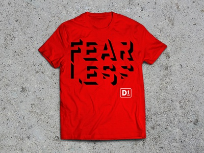 FEARLESS D1 t-shirt design type typography merchandise apparel t-shirt design t-shirt graphic design