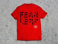 FEARLESS D1 t-shirt design