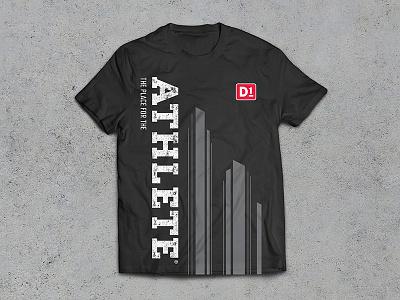 ATHLETE D1 t-shirt design type typography t-shirt design t-shirt graphic design merchandise apparel