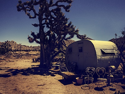 other side of the park landscape trailer park national parks joshua tree california photography