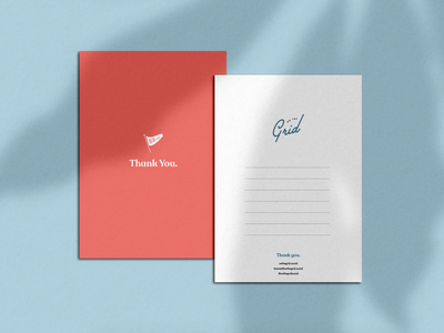 Thank You. serif script flag logo identity brand identity brand card design americana fun stationary thank you card thankyou