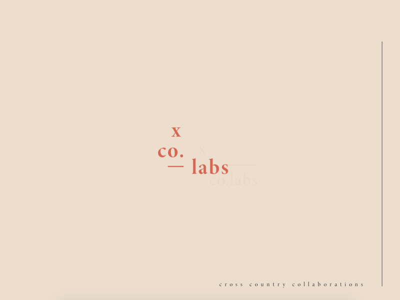 x co. pink design collaboration labs cross country x co dreams concept fun idenity logo