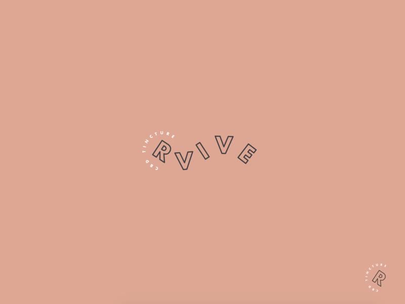 rvive stamp modern brand and identity dropped tincture cbd identity branding brand logo design