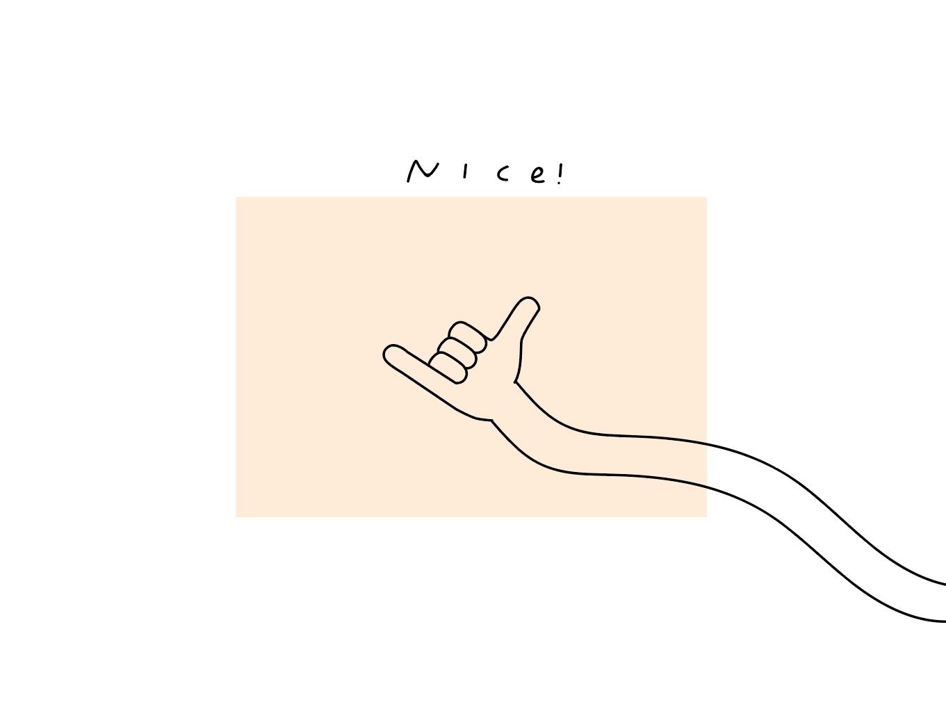 Cool, Sweet doodle mood fun hand art ! minimal simple line art nice peach hand design illustration
