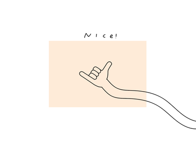 Cool, Sweet doodle mood fun hand art ! minimal simple line art nice peach hand design illustration