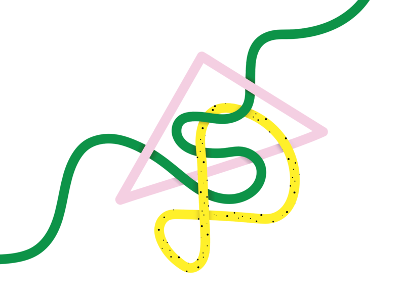 2.59.45 pm shadow texture green shape lines smooth lines color study fun pink illustration
