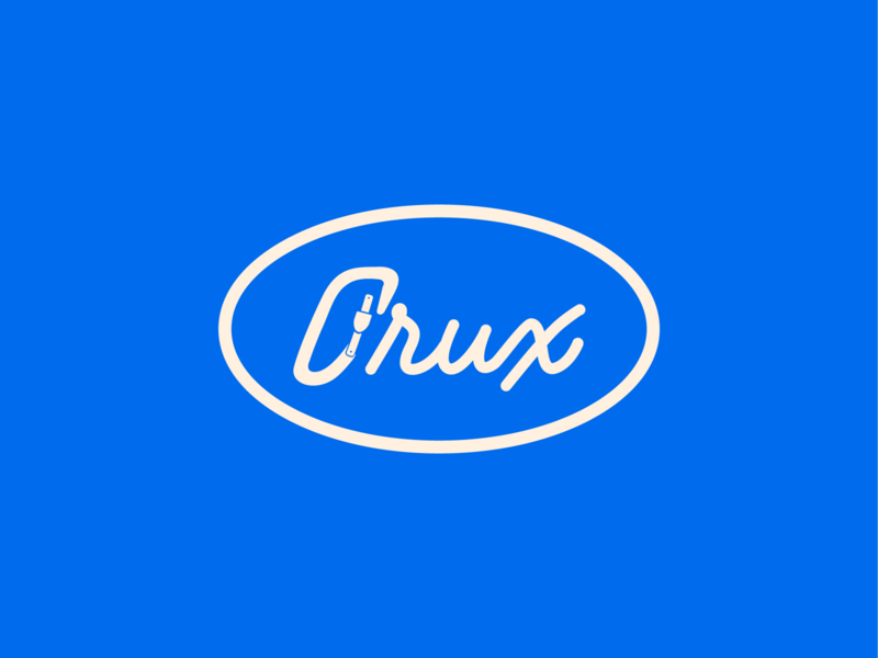 Crux 3 typography logo vector art branding brand identity brand design brand corporate identity corporate design monogram