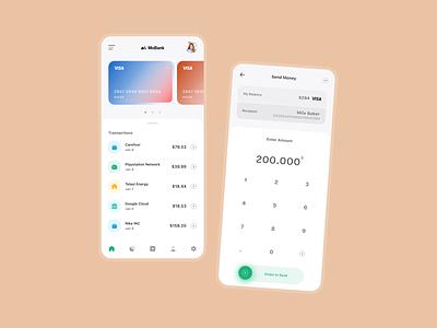 MoBank UI banking app bank card bank app banking bank mobile app design mobile ui mobile app mobile