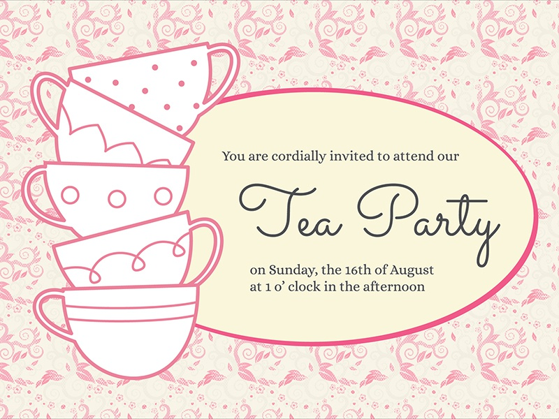 Tea Party Invitation by Vivian Ho Dribbble – Invitation to Tea Party