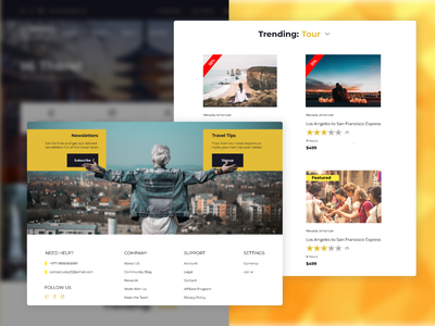 Travel Theme Style nepal website ux ui minimal design flat