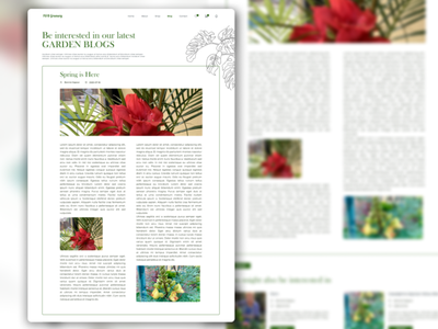 Blog for You blog nursery plants minimal nepal branding website design ux ui