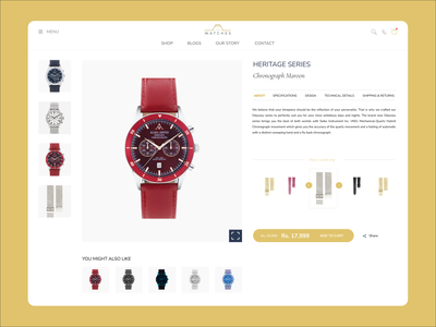 Product Specifications Page UI specifications details product detail product page sell clock watches wtraps watch branding nepal website ux ui design