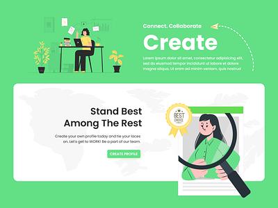 Some Green Moods branding website illustration hire place world plant career job design ux ui nepal