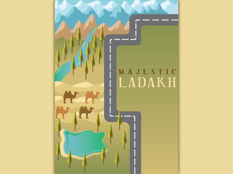 Incredible India - Ladakh colddesert ladakh series india illustration
