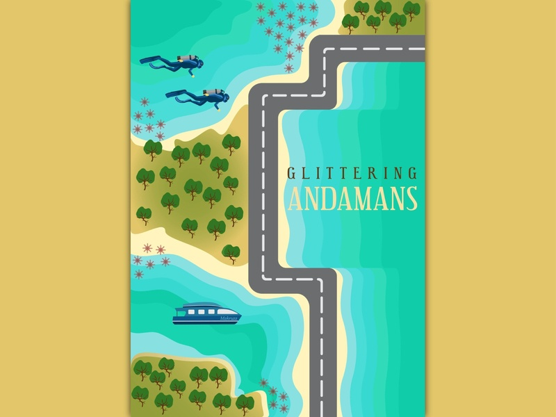 Incredible India - Andaman and Nicobar Islands islands andamannicobar series india illustration