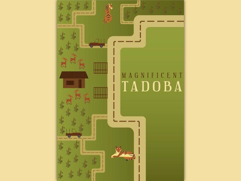 Incredible India - Tadoba Tiger National Park tigernationalpark illustration series india