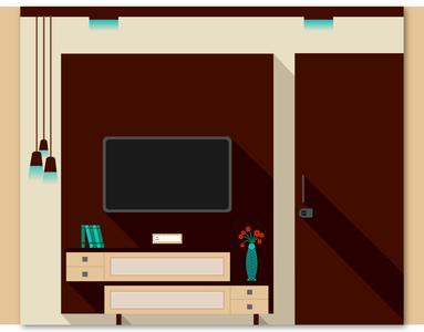 Flat Design Interiors illustration