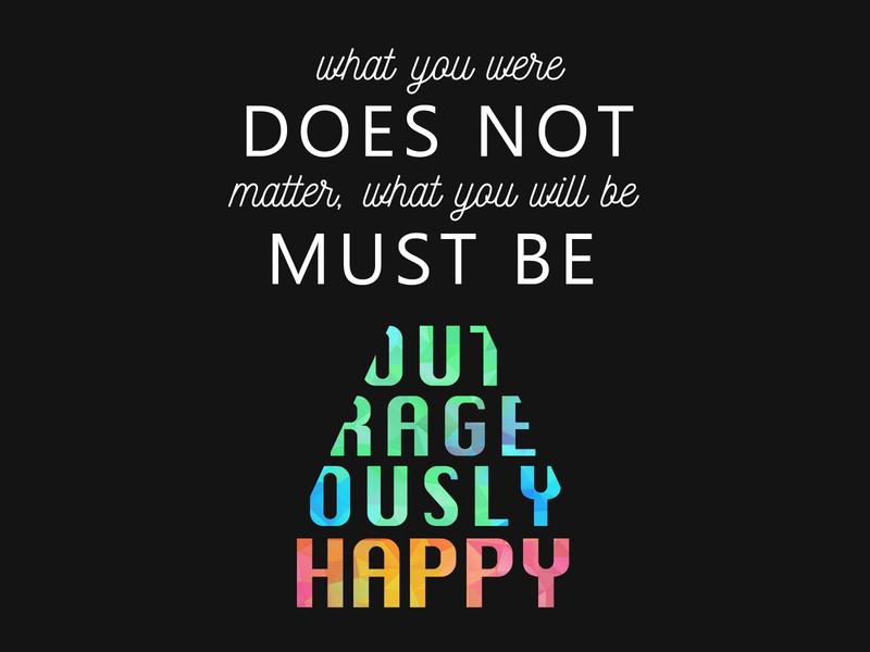 Happy Philosophy present happiness philosophy typogaphy