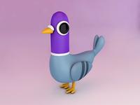 Pigeon cinema4d 3d art illustration