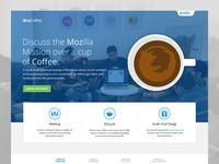 Mozilla MozCoffee - Landing Page
