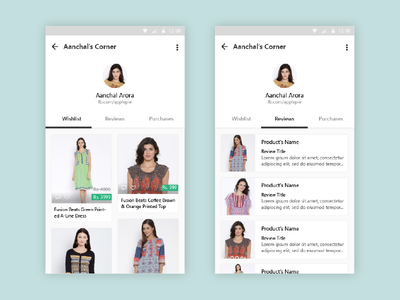 Shopasm - Profile Pages tinder clothing fashion interface card ux design interaction ui shopasm