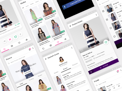 Shopasm Full App tinder clothing fashion interface card ux design interaction ui shopasm