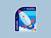 Activate mozilla sticker full pixel