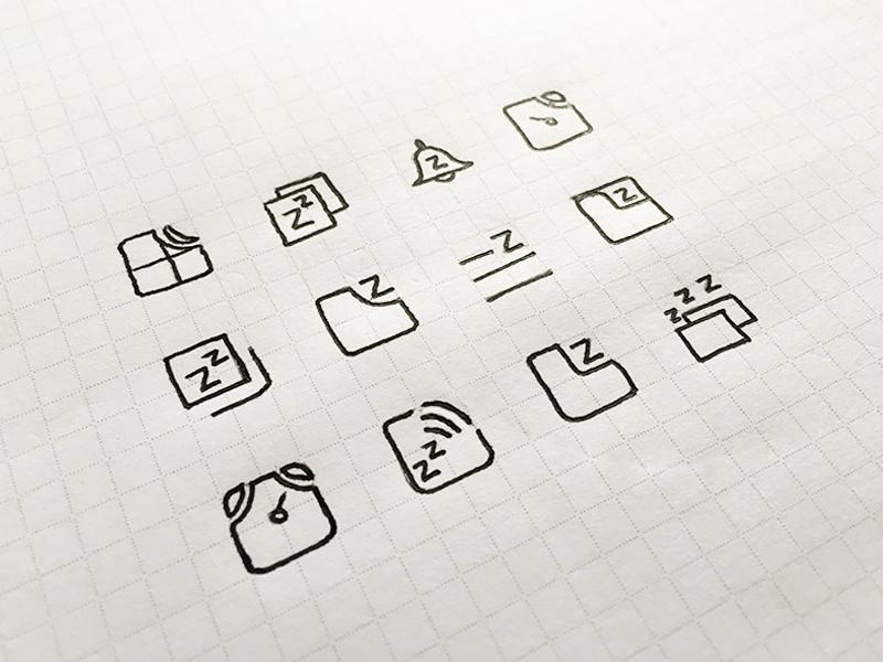 Firefox Test Pilot SnoozeTabs Icon illustration ink hand drawn icons snoozetabs test pilot mozilla