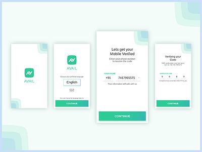 Avail Microfinance - Mobile Verification interaction ux ui verification avail loan finance android app money design