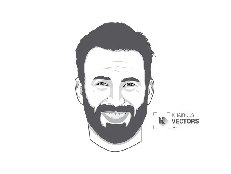 Vector Art(Chris Evans) typography vectorart portrait art vector vector illustration portrait illustration design illustration