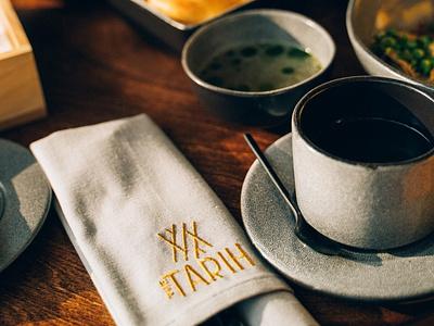 Branding for The Tarih / Story restaurant food national vector flat minimal branding logo