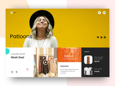 Clothes Web Design ui  ux typography webdesign design illustration vector website minimal uiux ui uidesign