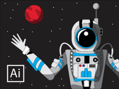 Astronaut design adobe illustrator illustrator illustration flat character art illustrator art vector