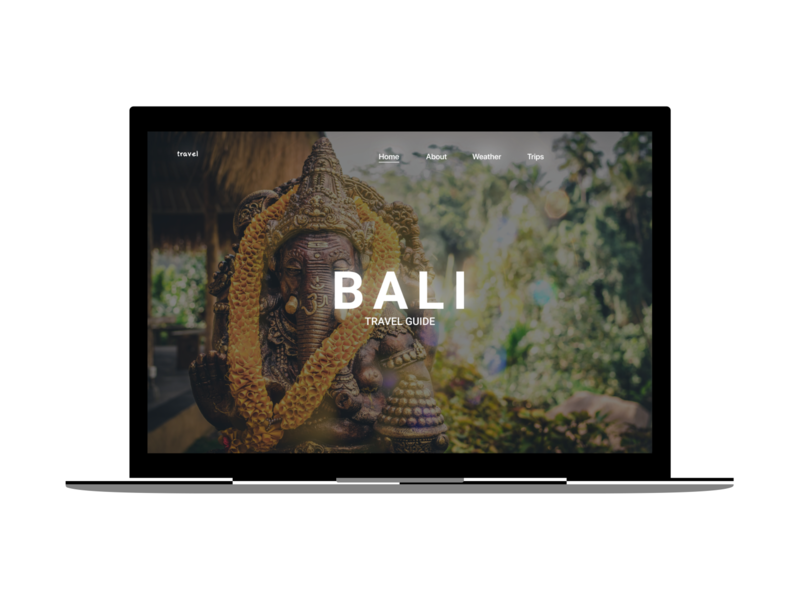 UI daily #6 ( First Screen ) Web Site Bali travel tour websites website web design tour web bali webdesign