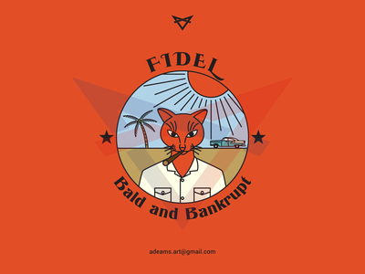 Fidel the Cat t-shirt tee pin patches logo line design badge apparel adventure branding lineart sticker tshirt design illustration vector monoline line art