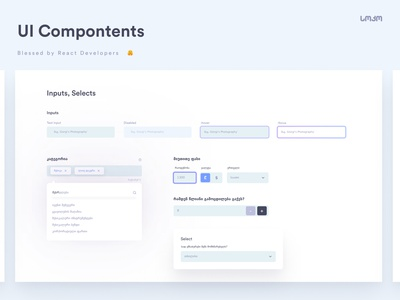 UI Components | Inputs uixui selector input design form label input select tags react component alerts ui ux design