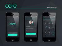 Core App UI Prototype