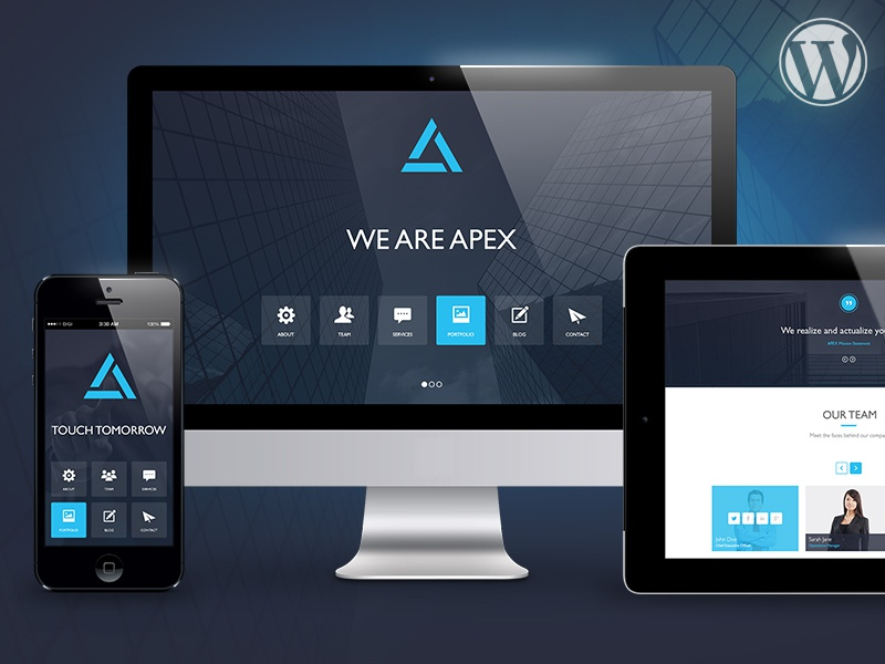 apex responsive wordpress theme by digital science dribbble dribbble