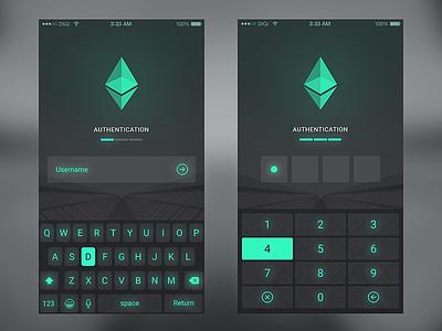 User Authentication  forex trading ethereum bitcoin ios iphone ui app