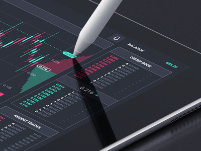 Dark dash ui dashboard bitcoin forex trading ipad
