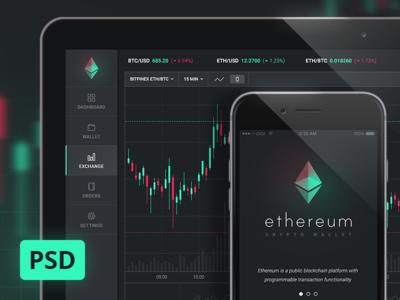 Crypto Mobile App bitcoin crypto ui dashboard app mobile psd