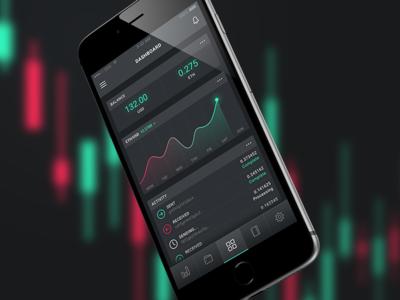 Mobile Dashboard stats dashboard ui app iphone
