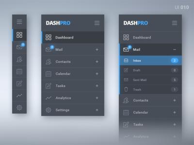 Sidebar Menu #010 nav navigation bar side menu dashboard ui daily